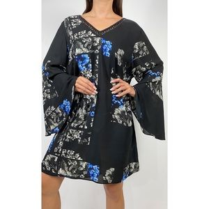 CITY CHIC Floral Bell Sleeve Shift Dress AU 20